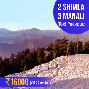 Shimla Manali Taxi Package